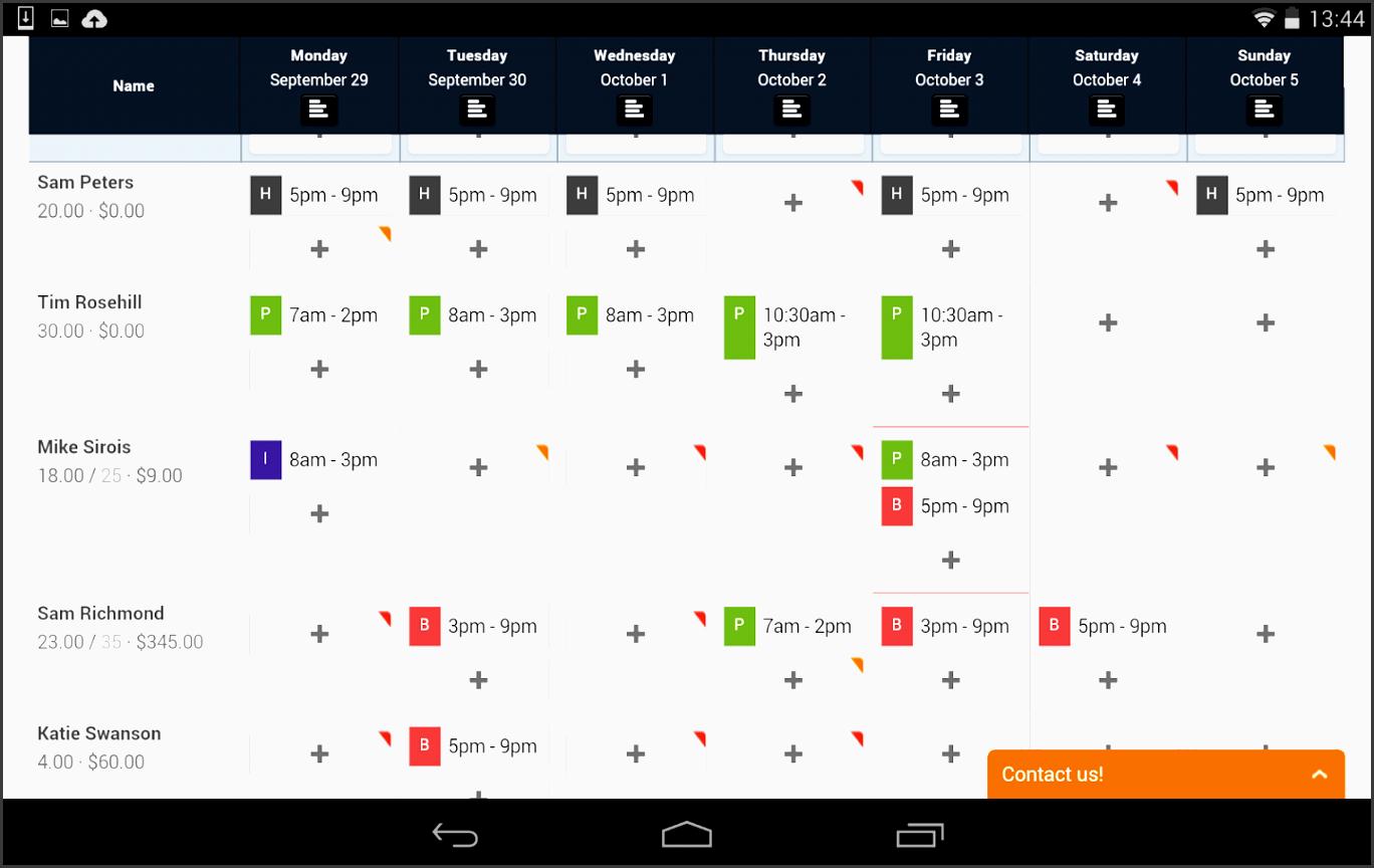 7shifts employee scheduling screenshot