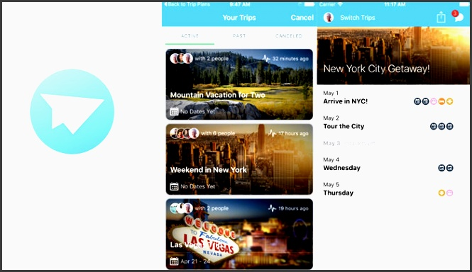 while the planning stage is limited to the web app travefy has an itinerary viewer app that is available for ios and android on this app travelers can