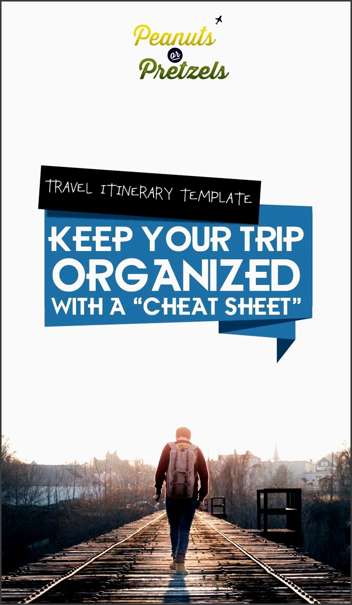 travel itinerary template keep your trip organized with a cheat sheet