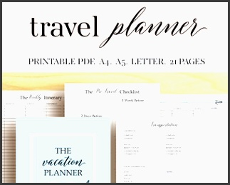 vacation planner travel planner trip planner vacation organizer vacation itinerary vacation printables holiday planner family vacation