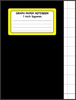Amazon Graph Paper Notebook 1 inch Squares Graph Paper Template Print 8 5x11 100 Pages Blank Quad Ruled Softback position Books