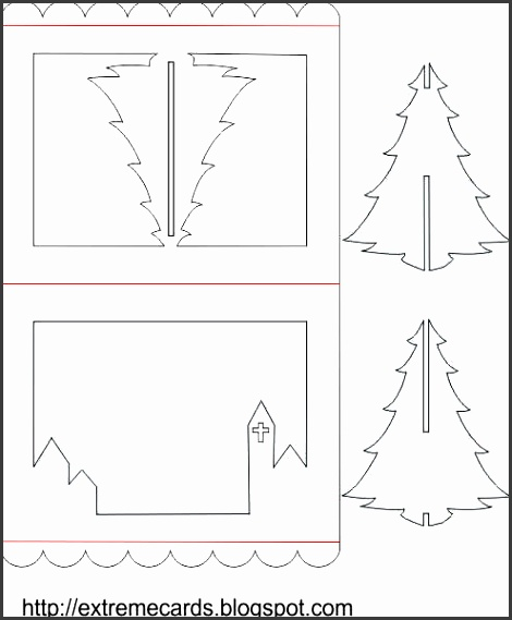 3d christmas tree pop up