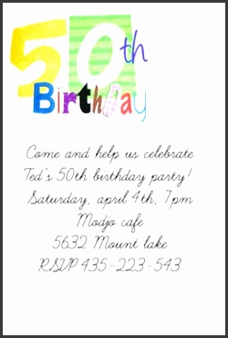 50th Birthday Printable Birthday Invitation Template