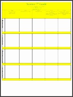Editable Weekly 5E Model Lesson Plan Template