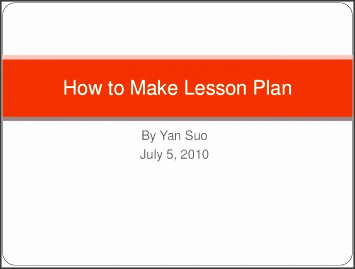 Lesson Plan PowerPoint Presentation By Yan Suo br July 5