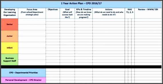 1 Year Action Plan Template