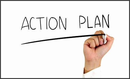 daily action plan template graphic