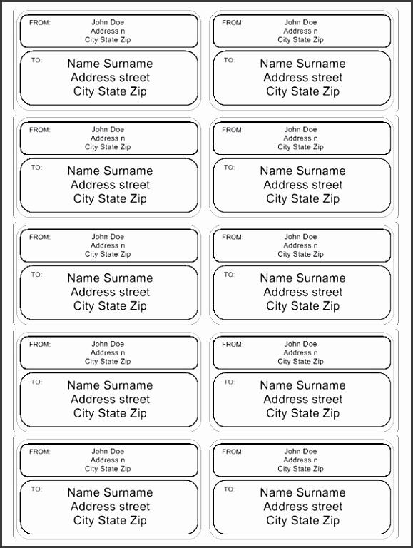 print mailing label and create custom address label