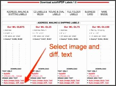 Select Label Size Tipnut