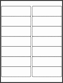 "OL100 4"" x 1 33"" Blank Label Template for Microsoft Word"