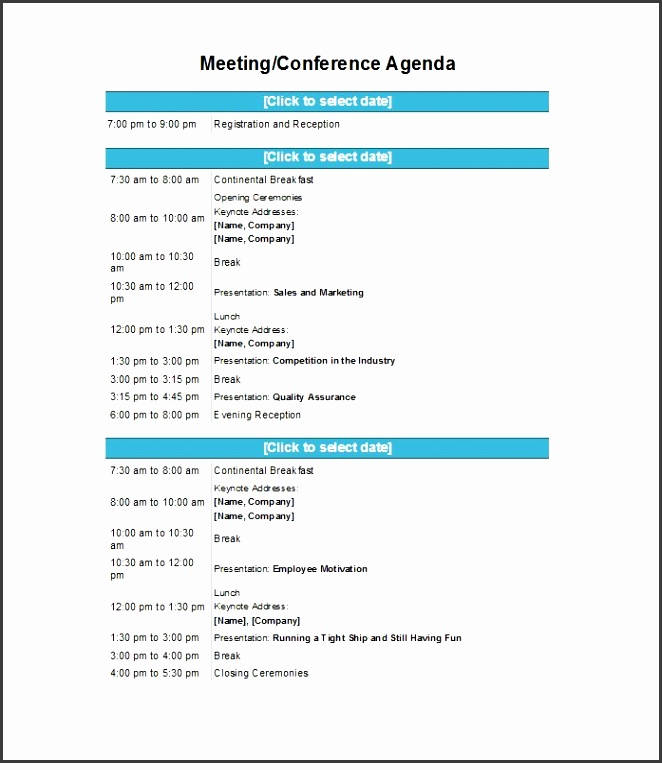 Printable Meeting Agenda Template 37