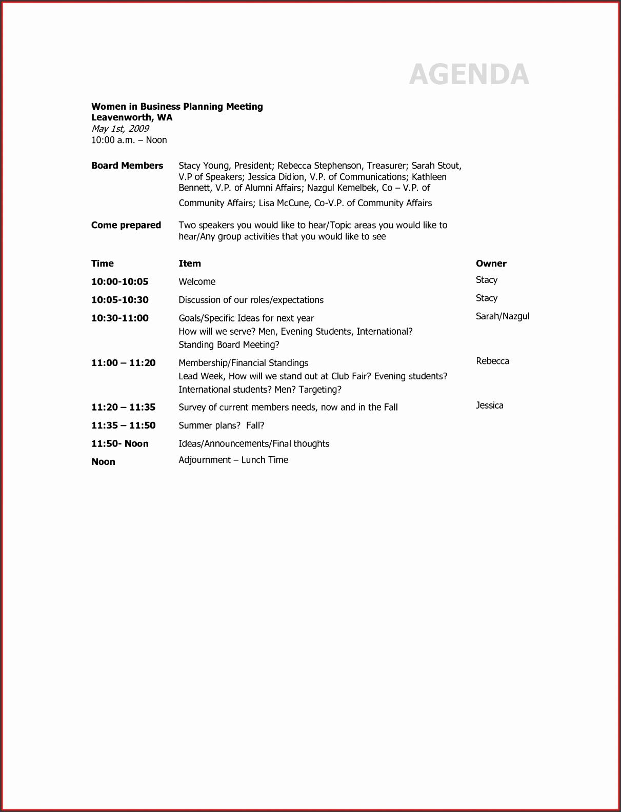 Fresh Agenda For Business Meeting Template Resume For A Job Agenda For Business Meeting Template Awesome Planning Meeting Agenda Run Down Template Sample