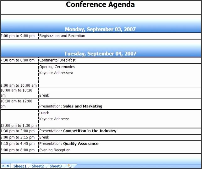 Meeting agenda template excel avant garde imagine conference