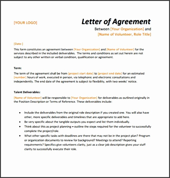letter agreement template letter of agreement samples template learnhowtoloseweight