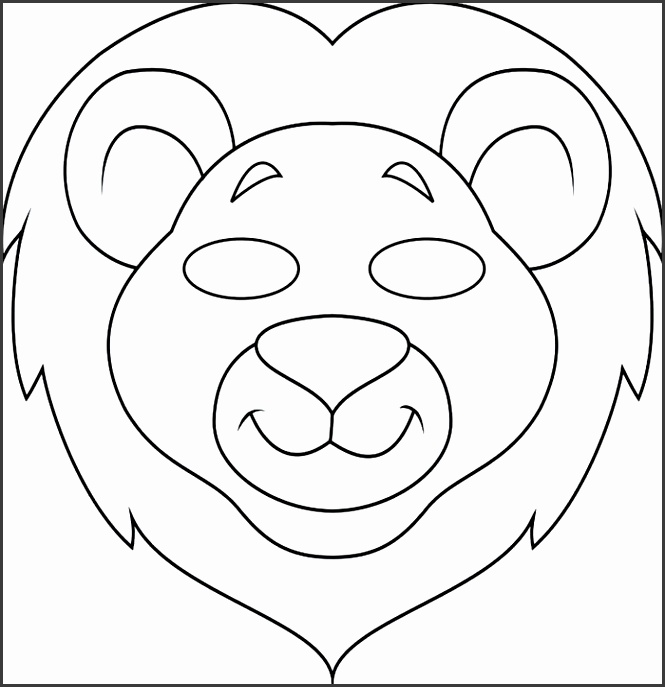 Scary Lion Mask Template