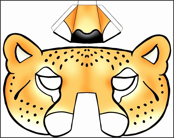 10 animal mask templates for children sampletemplatess for Cheetah face mask template