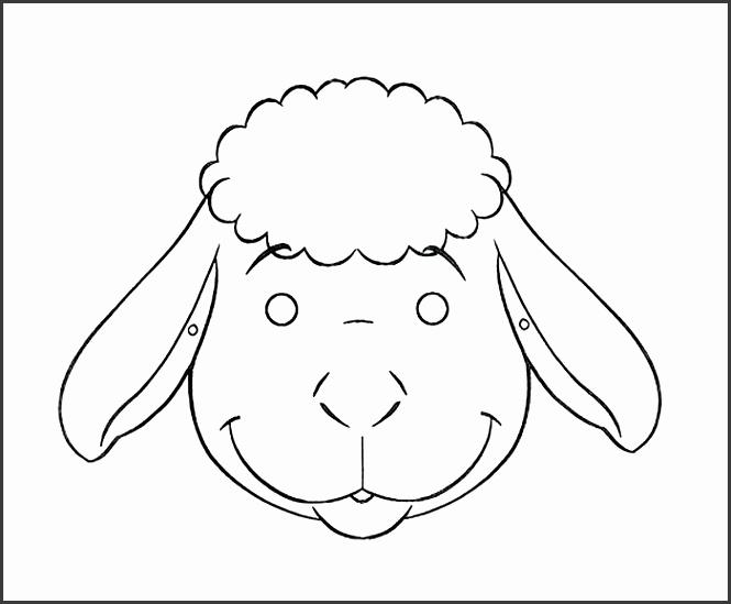 Astonishing Sheep Template Kids Coloring Pages Animal Mask Templates Free Premium