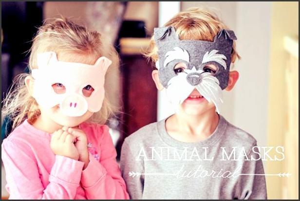 Animal Masks for Kids DIY tutorial w free mask template printable
