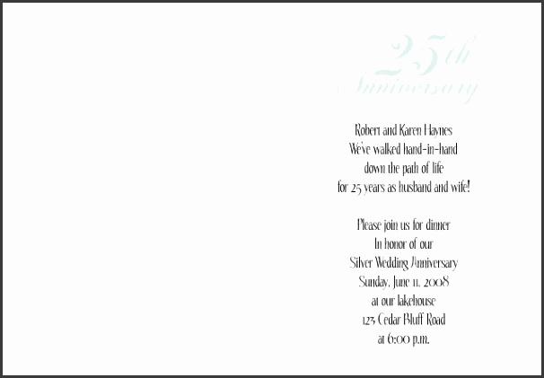 25th Anniversary Invitation 1 No 6 Folder