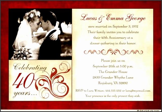 Anniversary Invitations Templates