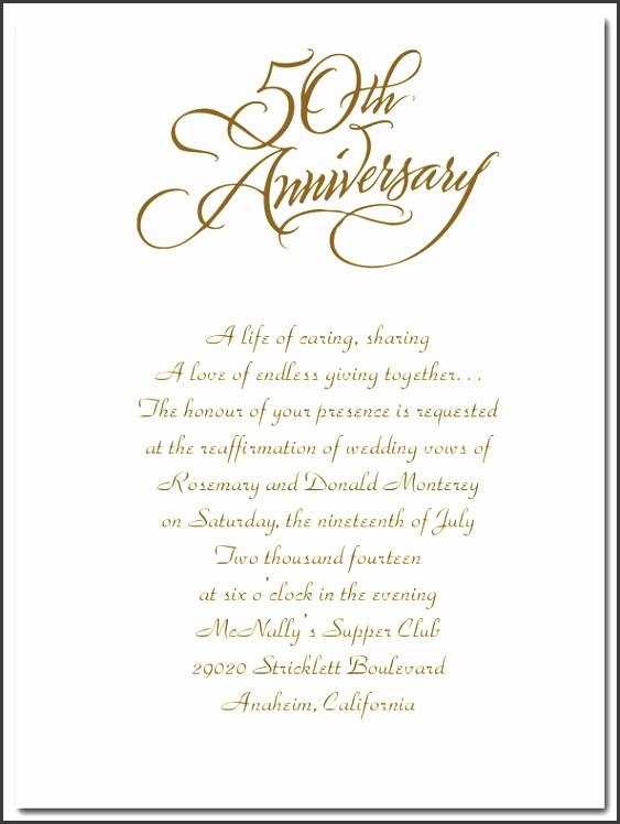 50th Anniversary Invitation Template 50th Wedding Anniversary Invitations In Spanish Mini Bridal Template