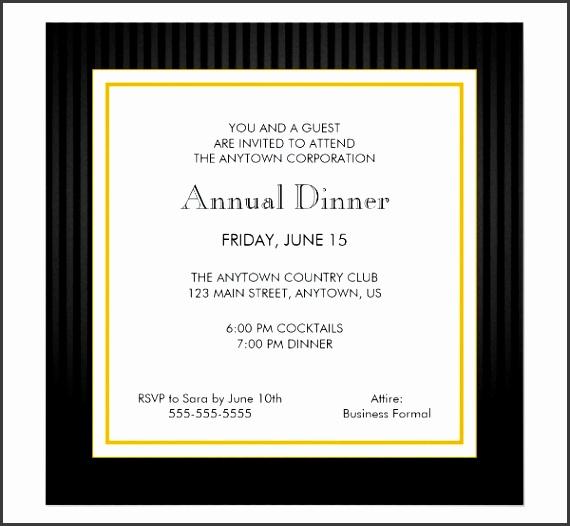 Annual Dinner Invitation Card