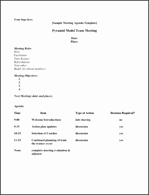 Download pany Annual General Meeting Agenda Template for Free