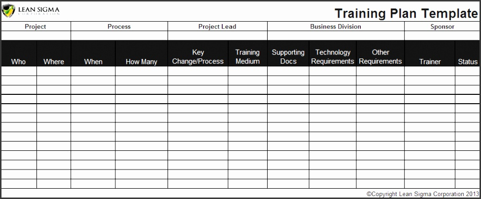 Employee Training Plan Template Excel Car Interior Design DikqftKx