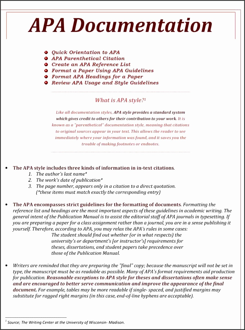 Resume Paper format Fresh Apa Style Paper format Template Expinanklinfire