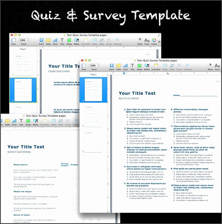 Quiz & Survey Template