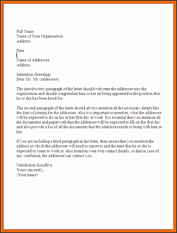 10 appointment letter sample