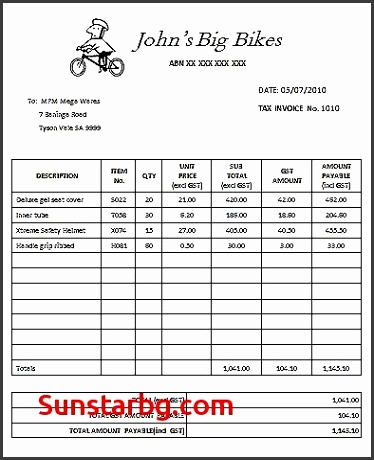 Invoice Template for Tax Invoice Sample Best Professional Australian Tax Invoice Templates Demplates Invoice