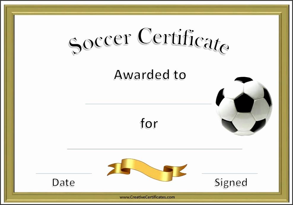 soccer certificate · Customize & Print · printable soccer award certificate