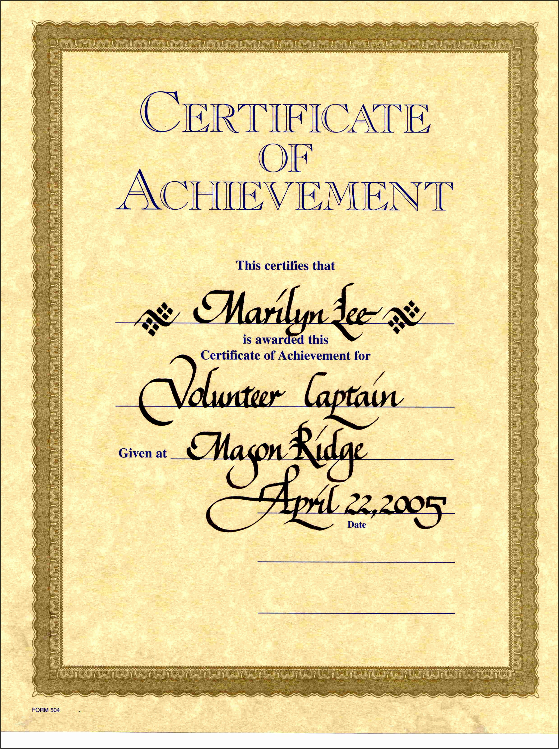 free new Award Certificates pdf