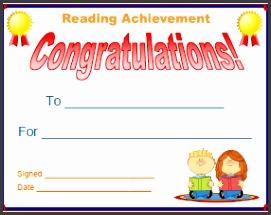 Listening Achievement Certificate