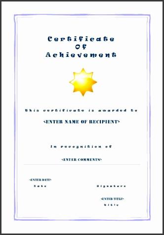 CAC PUB 101 Certificate of Achievement Casual Big