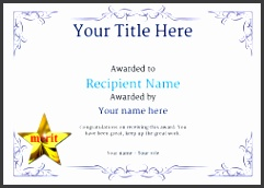 school certificate template merit Image