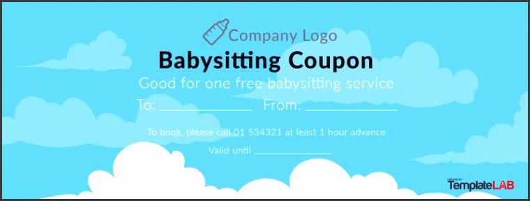 Babysitting Coupon Templates