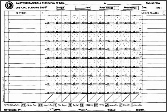softball score sheet template