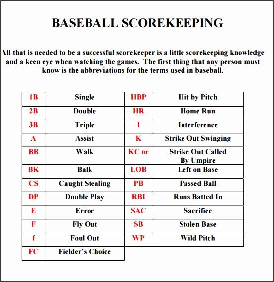 printable baseball scorecard sheet template