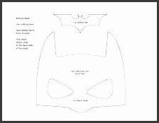 A Free Batman Mask Pattern pyssel Pinterest