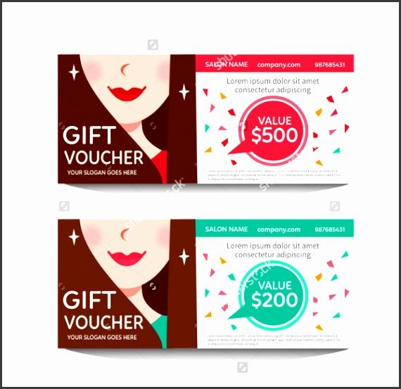 Beauty Salon Gift Voucher Template