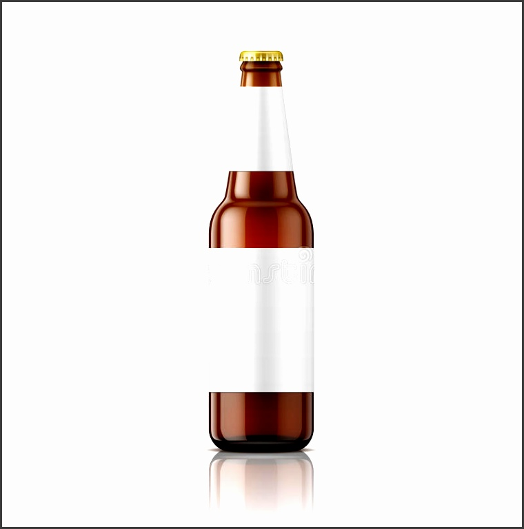 Download Brown Beer Bottle With Labels Template Stock Vector Image
