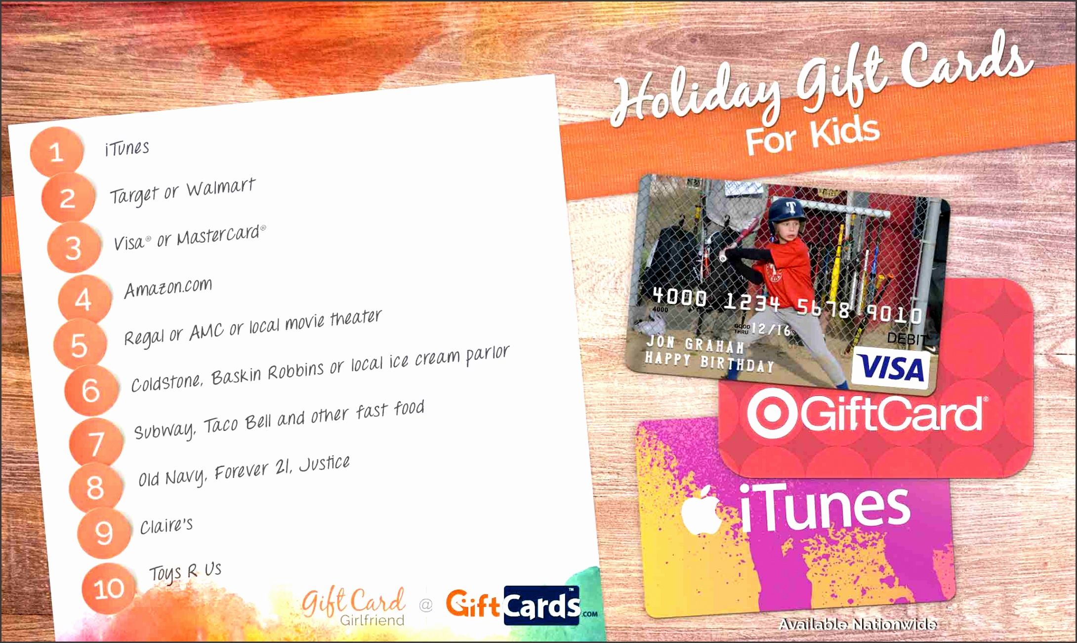 top t cards for kids