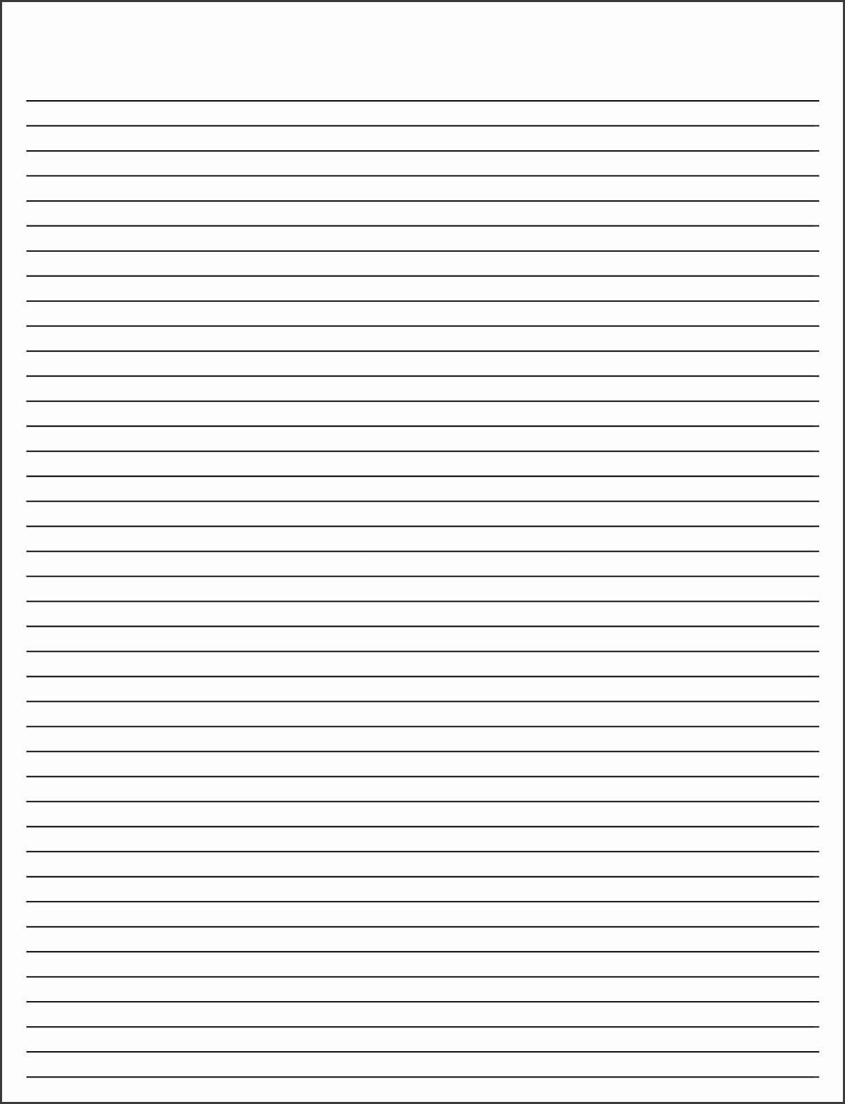 Printable Lined Paper Printable Lined Paper 03