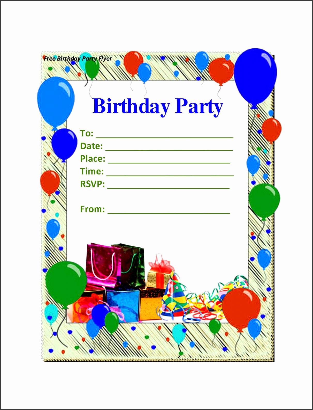 2 extraordinary free birthday invitations templates kids bday invitation template l 4fe987ff969da3e2
