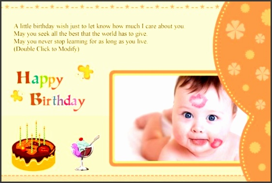 Birthday card photo templates