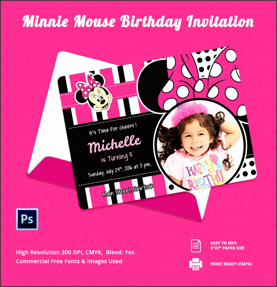 Birthday Invitation Card Design Free Mickey Mouse Birthday Invitation Template Psd Vector Eps with Birthday Invitation