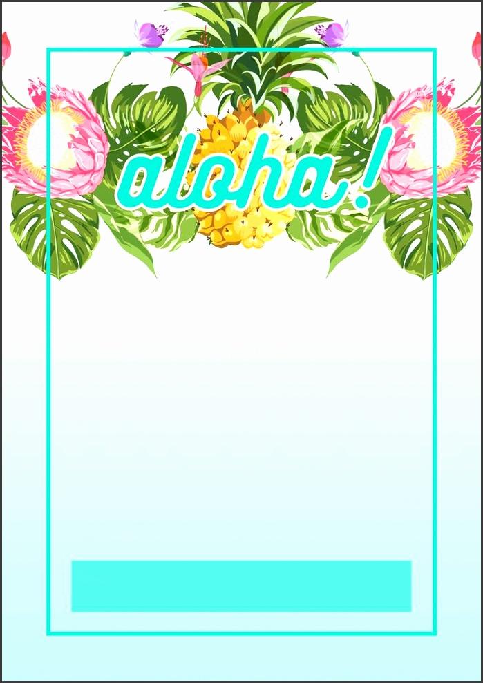 Pineapple Luau Perimeter Free Printable Birthday Invitation Template
