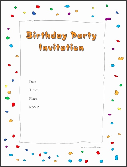 birthday party invitations template 40 free birthday party invitation templates template lab templates